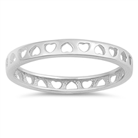 Silver Ring - Hearts - $2.26