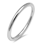 Silver Ring and Toe Ring - Round Band - $3.48