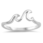 Silver Ring - Little Waves - $2.78