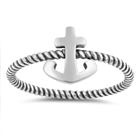 Silver Ring - Anchor - $2.56