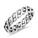 Silver Ring - Braided Band - $4.46