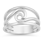 Silver Ring - Wave - $6.29