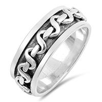 Silver Ring - Chain Link Band - $11.67