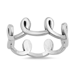 Silver Ring - Loops - $4.45