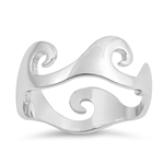 Silver Ring -  Waves - $4.60