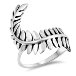 Silver Ring -  Fern Leaves - $4.92