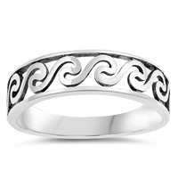 Silver Ring - Filigree Wave - $3.42
