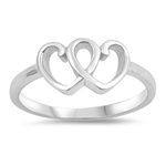 Silver Ring - Hearts