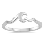 Silver Ring - Wave - $2.65