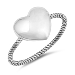 Silver Ring - Heart -$5.58