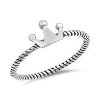 Silver Ring - Crown - $2.35