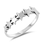 Silver Ring - Stars - $3.10