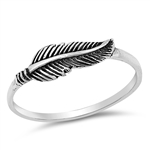 Silver Ring - Feather - $2.58