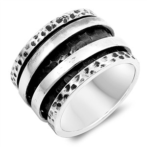 Silver Spinner Ring - Two Moveable Bands - $24.30