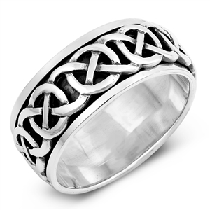 Silver Spinner Ring - Celtic - $12.94