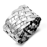 Silver Ring - Woven Band - $7.59