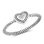 Silver Ring - Heart - $2.68