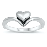 Silver Ring - Heart - $3.32