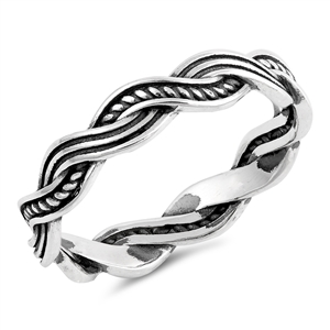 Silver Ring - Braided - $4.05