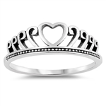 Silver Ring - Heart - $2.74