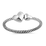 Silver Ring - Two Hearts - $2.57