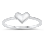 Silver Ring -  Heart - $2.54