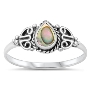 Silver Ring W/ Stone - $3.24