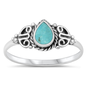 Silver Ring W/ Stone - $4.33