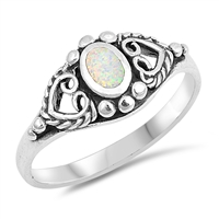 Silver Ring W/ Stone - $6.95