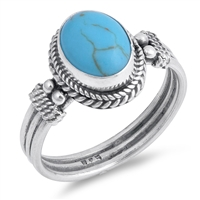 Silver Ring W/ Stone - $9.28