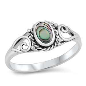 Silver Ring W/ Stone - $3.99