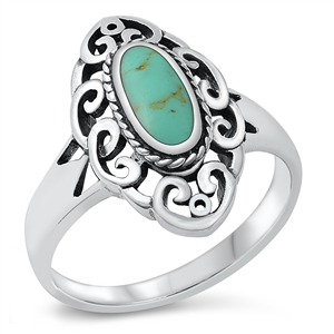 Silver Ring W/ Stone - $7.88