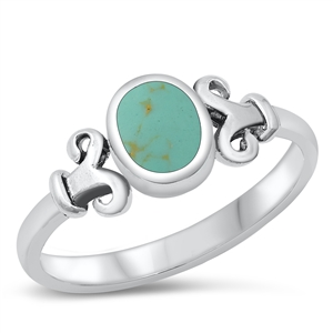 Silver Ring W/ Stone - $4.54