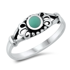 Silver Ring W/ Stone - $3.19