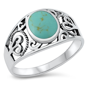 Silver Ring W/ Stone - $6.48