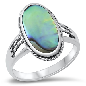 Silver Ring W/ Stone - $9.81