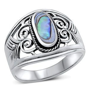 Silver Ring W/ Stone - $9.35