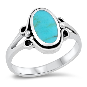 Silver Ring W/ Stone - $6.29