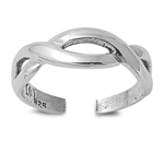 Silver Toe Ring - Infinity Sign