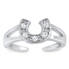 Silver Toe Ring - Horseshoe