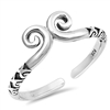 Silver Toe Ring - Spiral