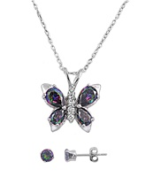 Silver Sets W/Chains - Butterfly