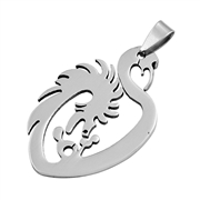 Steel Pendant - Dragon
