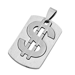 Steel Pendant - Dollar Sign