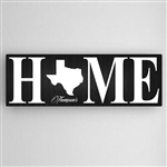Customized Home State Accented Canvas Sign