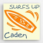 Personalized Kids Surfboard Canvas Sign