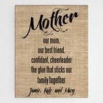 Customized Mother Definition Accented Canvas Sign
