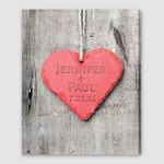 Embossed Heart Canvas