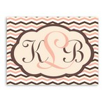 Personalized Chevron Design Monogrammed Canvas Print