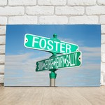 Customized Intersection Street Sign Canvas Sign